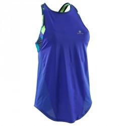 Débardeur brassière intégrée fitness cardio femme bleu Energy +