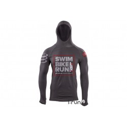 Compressport Sweat Ironman Casual Seamless Hoodie Tri226 M vêtement running homme
