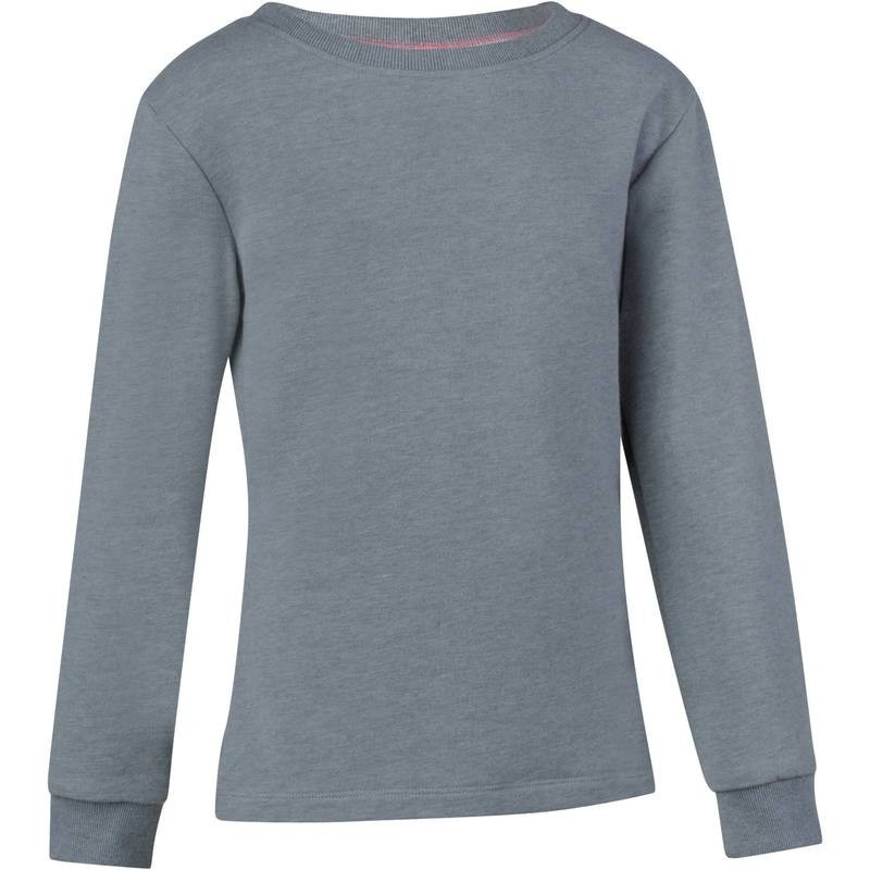 Avis   test - Sweat chaud Gym fille gris - DOMYOS - Prix bb395698e33