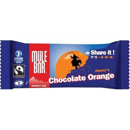 Mulebar Barre Energétique Jimmy's - Chocolat/Orange Diététique Barres