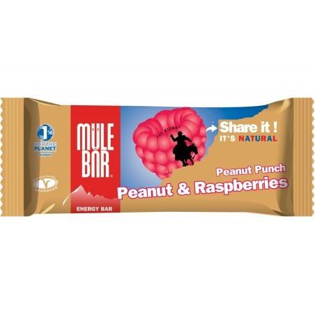 Mulebar Barre Energétique Peanut Punch - Cacahuète/Framboise Diététique Barres