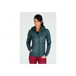 Icebreaker Helix LS Zip Hood W vêtement running femme