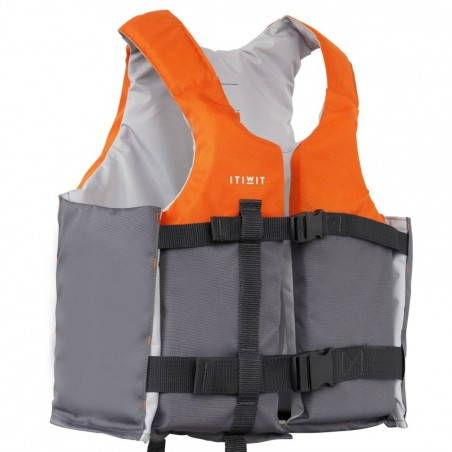 GILET AIDE A LA FLOTABILITE 50N+ orange kayak stand up paddle dériveur