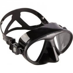 Masque de chasse sous-marine et apnée petit volume SPF 500 noir