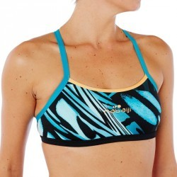 Brassière de natation femme ultra résistante au chlore Jade wing vert