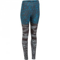Legging slim Gym & Pilates femme imprimé noir bleu