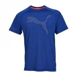 T-shirt fitness homme bleu