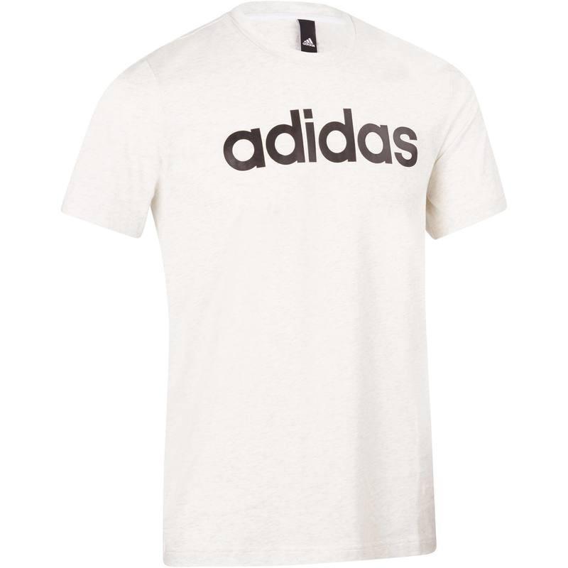 Avis   test - T-shirt gym pilates homme blanc - Adidas - Prix 85dd27a8ac90