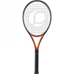 RAQUETTE DE TENNIS ADULTE TR990 PRO + ORANGE ET NOIR