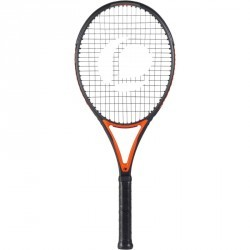 RAQUETTE DE TENNIS ADULTE TR990 PRO ORANGE ET NOIR