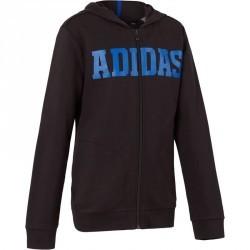 Veste à capuche gym garçon noire bleue