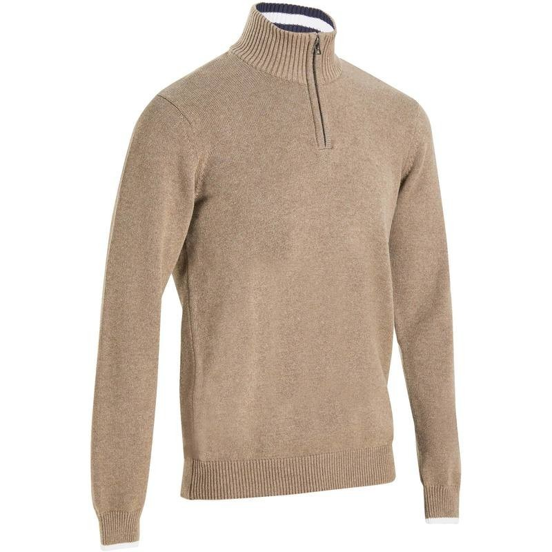 PULL GOLF HOMME 540 MARRON chiné