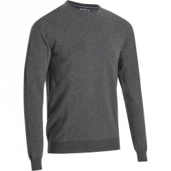 PULL GOLF HOMME 520 COL ROND GRIS chiné