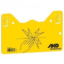 Plaque de signalisation clôture électrique équitation jaune x1