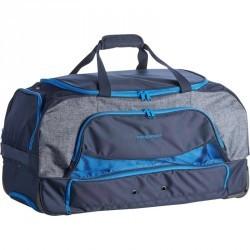 Sac de transport à roulettes équitation TROLLEY 80 L bleu et gris