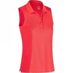 Polo de golf femme sans manches 900 temps chaud rouge