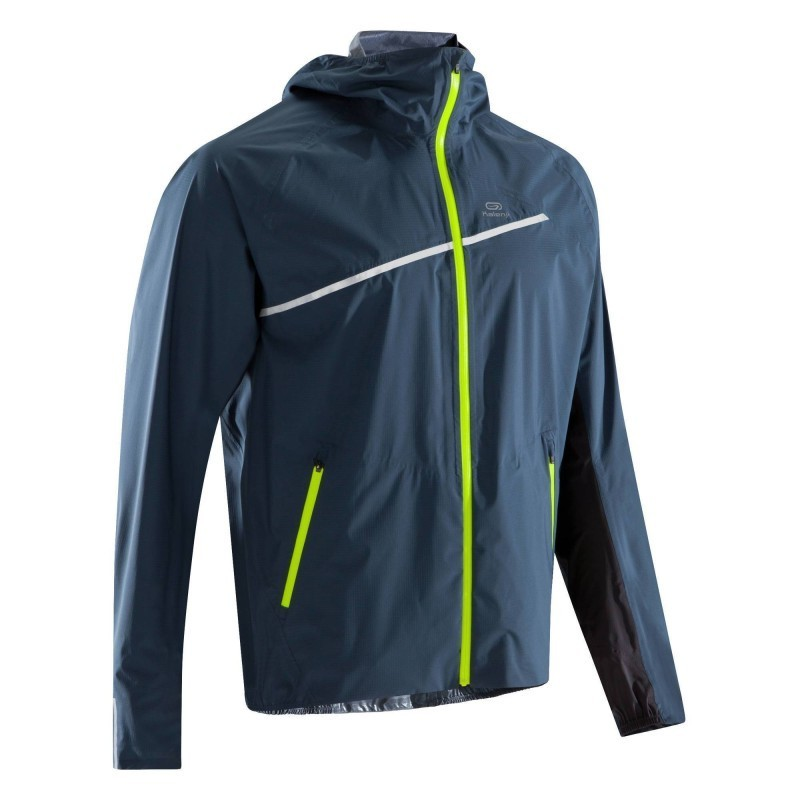 avis test veste imperm able trail running bleu jaune homme kalenji prix. Black Bedroom Furniture Sets. Home Design Ideas