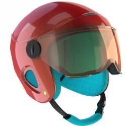 Casque de ski et de snowboard enfant H 450 JR rose.