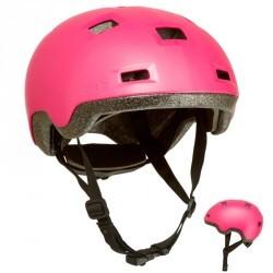 Casque roller skateboard trottinette vélo B100 rose
