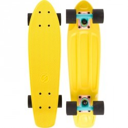 Cruiser Skateboard YAMBA Jaune rose