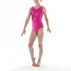 Justaucorps sans manches Gymnastique Féminine (GAF et GR) Rose 520