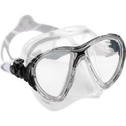 Cressi  Crystal Big Eyes Evo - Masque de plongée, grand verre - Transparent/noir - DS340060