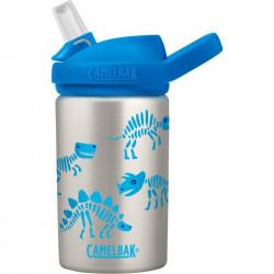CamelBak gourde Eddy+ Kids Dino Bones400 ml acier inoxydable gris/bleu
