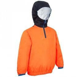 Vareuse coupe-vent dériveur/catamaran enfant 100 orange/bleu