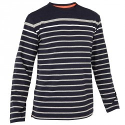 T-shirt M.L. Voile aventure 100 Homme RAYE Bleu