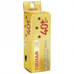 Balles plastiques T3* 40+ SYNTT NG X 3 blanches