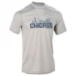 TEE SHIRT DE BASKETBALL HOMME DEBUTANT/ CONFIRME FAST TARMAK CHICAGO GRIS