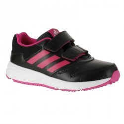 Chaussures marche sportive enfant Fastwalk2 Scratch noir / rose