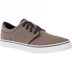 Chaussures basses skateboard-longboard adulte VULCA 100 M kaki foncé