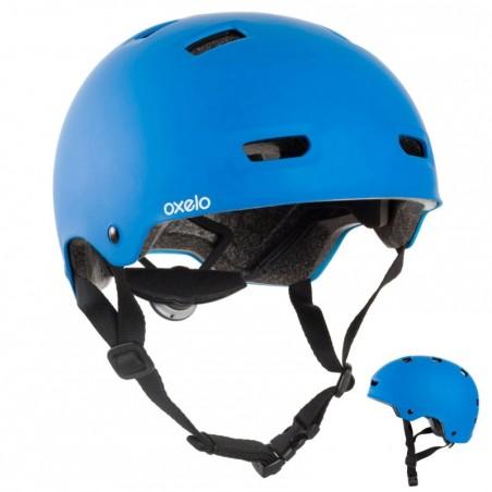 Casque roller skateboard trottinette vélo MF500 bleu