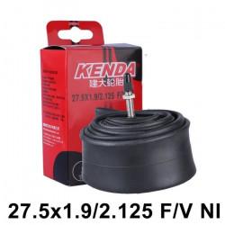 KENDA Chambre à air 27.5 pouces Presta F/V pour Vélo de motagne/route 27.5x1.75-2.125- Kit moteur roue 2 Pièces