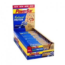 POWERBAR  Lot de 24 barres de céréales Natural Protein - Myrtille noix - 40 g