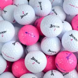 Second Chance Femmes Srixon Soft Feel Lot de 100 balles de Golf de récupération Calibre A Blanc