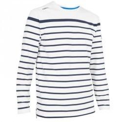 T-shirt M.L. Voile aventure 100 Homme RAYE Blanc