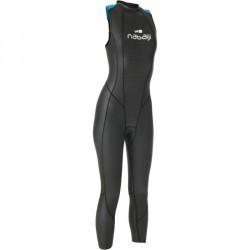 Combinaison de natation sans manche néoprène OWS500 3/2mm femme eau tempérée