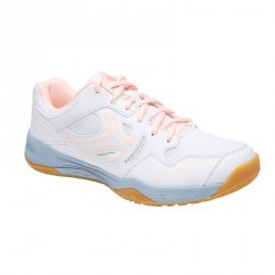 CHAUSSURES DE BADMINTON ARTENGO BS760 LADY GRIS ROSE