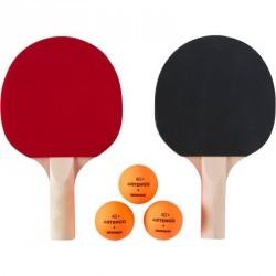 Set de 2 raquettes de ping pong et 3 balles PPR 100 SMALL INDOOR