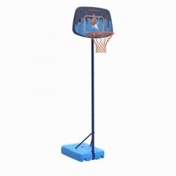 Panier de basket enfant K500 vaisseau bleu. 1,30m à 1,60m. Jusqu'à 8 ans.