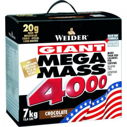 MEGA  MASS  4000  WEIDERChocolat   7  kg + Shaker