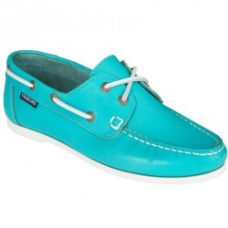 Chaussures bateau cuir femme Cruise 500 turquoise