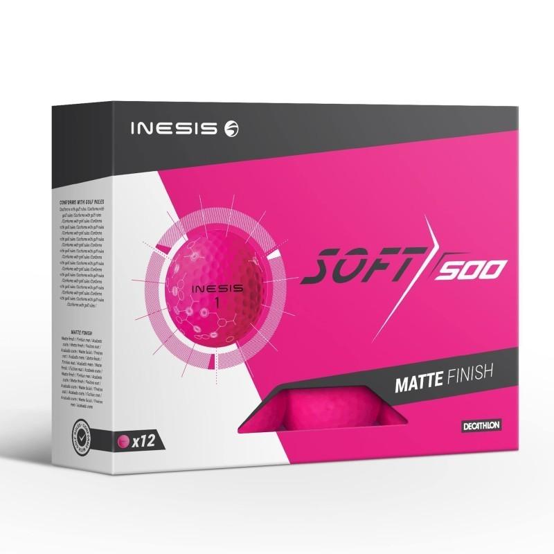 Balle de golf SOFT 500 X12 Rose mat