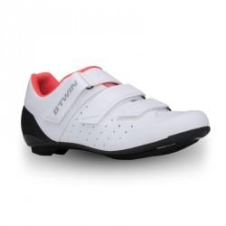 Chaussures vélo ROADR 500 ROSE BLANC