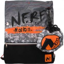 NERF sac de sport garçons 5 litres nylon noir/orange