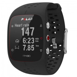 Polar - M430 - Montre Running GPS avec suivi de la Fréquence Cardiaque - Noir - Taille M-L
