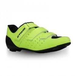 Chaussures vélo ROADR 500 JAUNE FLUO