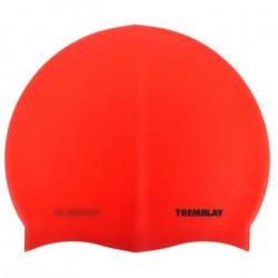 Bonnet de bain Silicone rouge bonnet